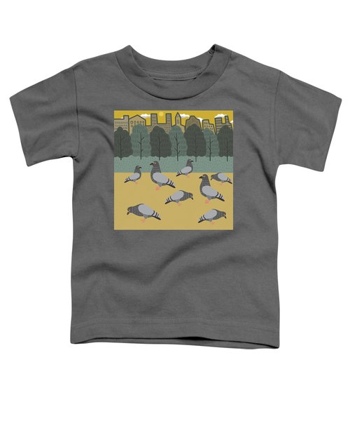 Pigeons Day Out Toddler T-Shirt by Nicole Wilson