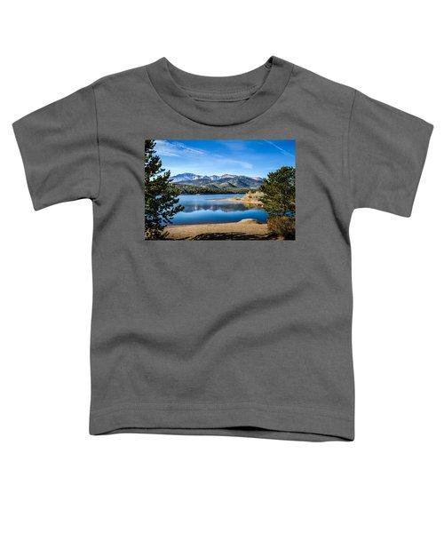 Pikes Peak Over Crystal Lake Toddler T-Shirt