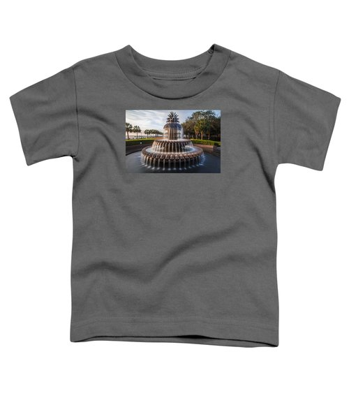 Pineapple Fountain Charleston Sunrise Toddler T-Shirt