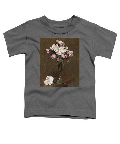 Pink And White Roses In A Champagne Flute Toddler T-Shirt