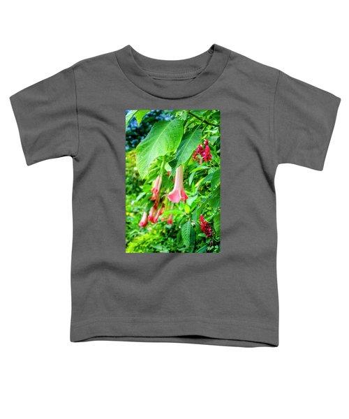 Pink Bell Flowers Toddler T-Shirt