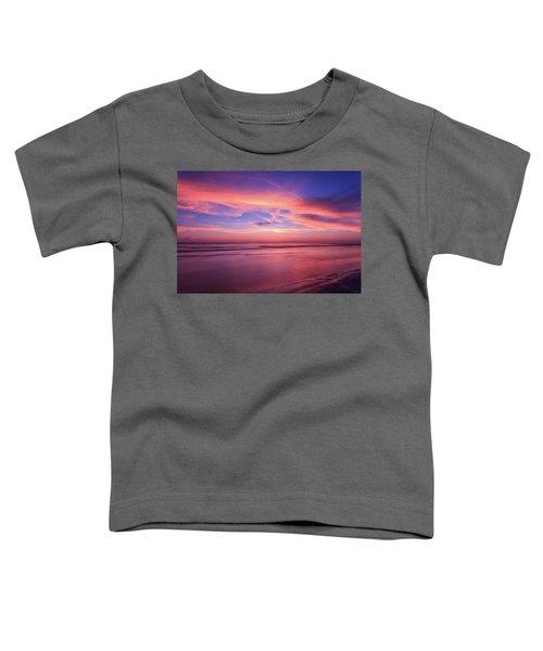 Pink Sky And Ocean Toddler T-Shirt