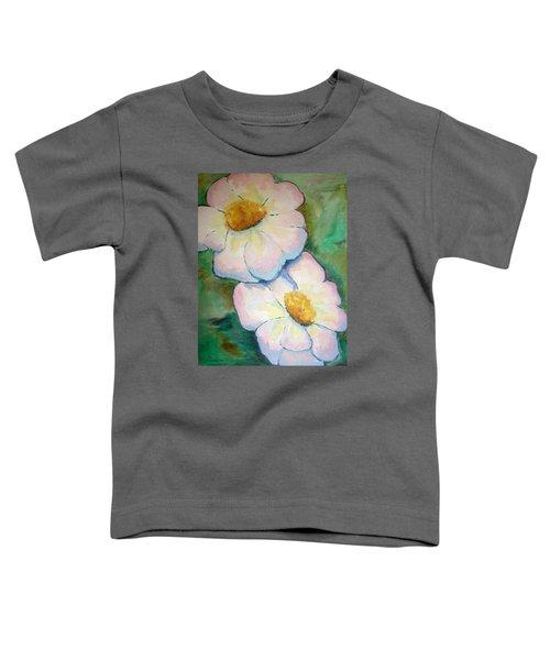 Pink Disc Flowers Toddler T-Shirt