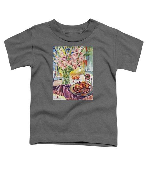 Pink Gladioas Toddler T-Shirt