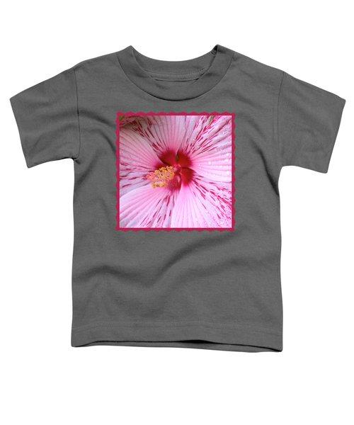 Pink Hibiscus Macro Toddler T-Shirt