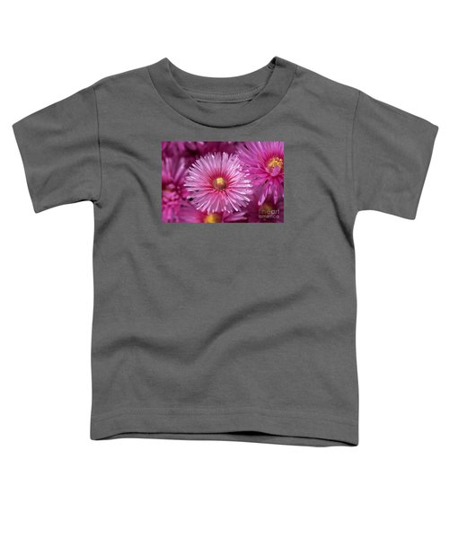 Pink Pigface Flowers Toddler T-Shirt