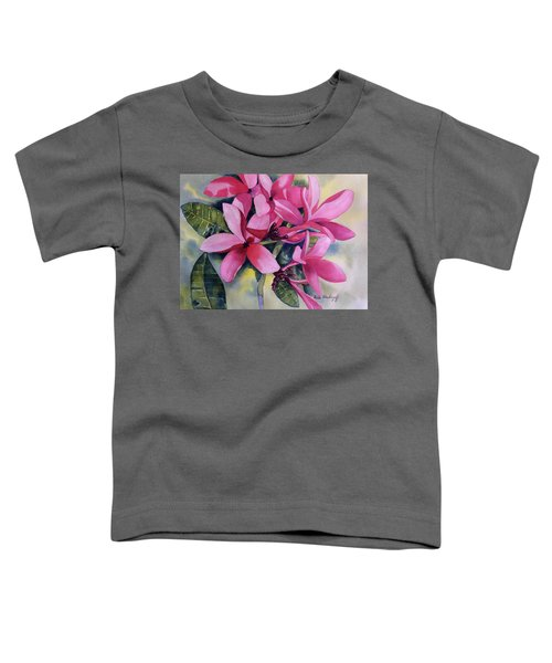 Pink Plumeria Flowers Toddler T-Shirt