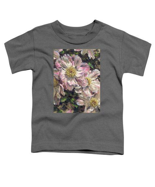 Pink Single Peonies Toddler T-Shirt