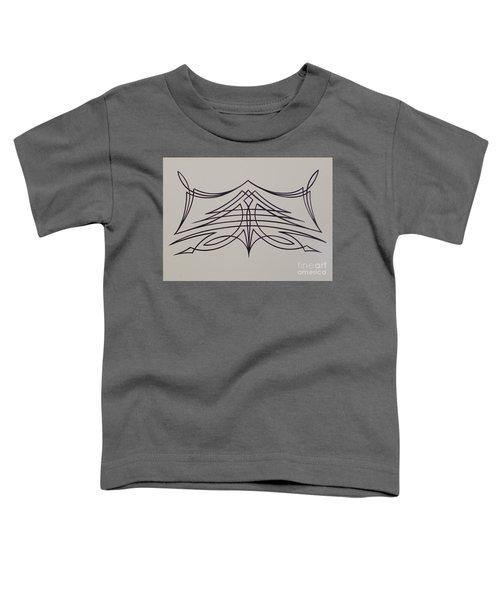 Pinstripe Black On White Toddler T-Shirt