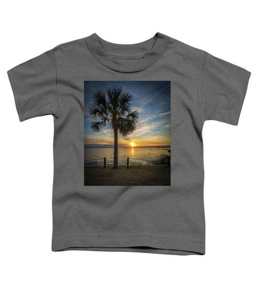 Pitt Street Bridge Palmetto Tree Sunset Toddler T-Shirt