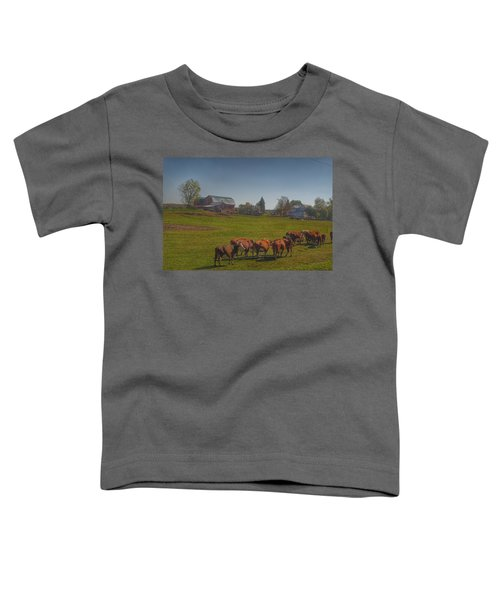 1014 - Plain Road Farm And Cows I Toddler T-Shirt