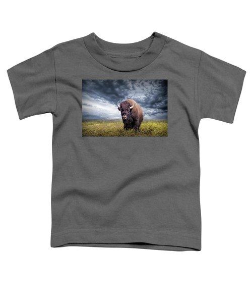 Plains Buffalo On The Prairie Toddler T-Shirt