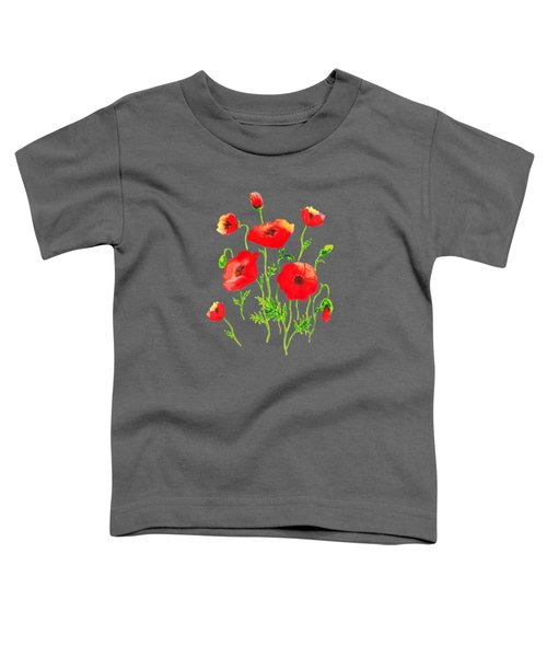 Playful Poppy Flowers Toddler T-Shirt