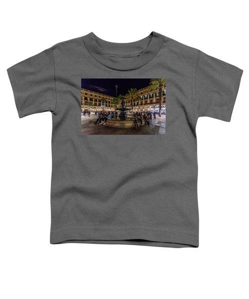 Plaza Reial Toddler T-Shirt by Randy Scherkenbach