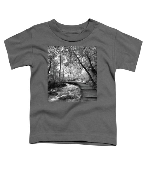 Toddler T-Shirt featuring the photograph Plitvice In Black And White by Travel Pics