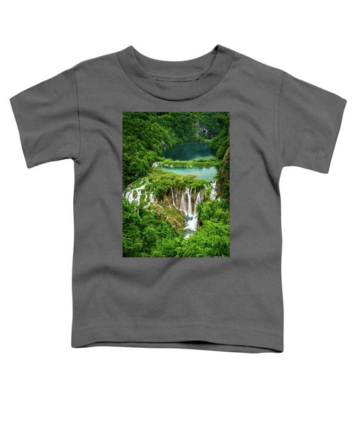 Plitvice Lakes National Park - A Heavenly Crystal Clear Waterfall Vista, Croatia Toddler T-Shirt
