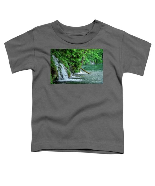 Plitvice Lakes National Park, Croatia - The Intersection Of Upper And Lower Lakes Toddler T-Shirt