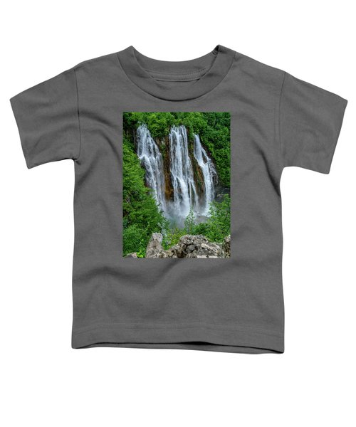 Plitvice Lakes Waterfall - A Balkan Wonder In Croatia Toddler T-Shirt