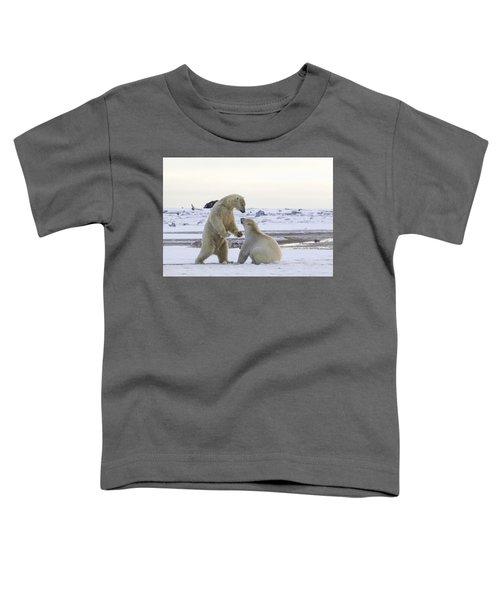 Polar Bear Play-fighting Toddler T-Shirt