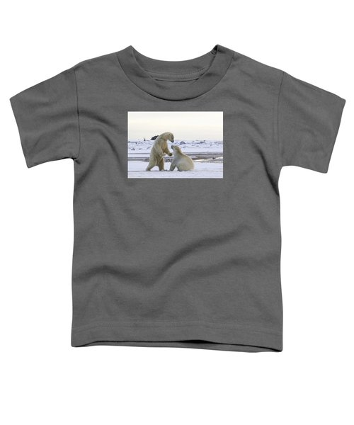 Polar Bear Play-fighting Toddler T-Shirt