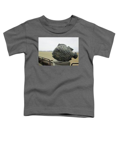 Polka Dotted Fish Sculpture Toddler T-Shirt