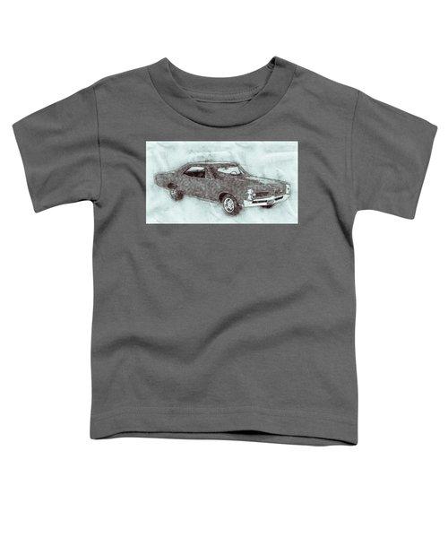 Pontiac Gto 1 - 1967 - Automotive Art - Car Posters Toddler T-Shirt