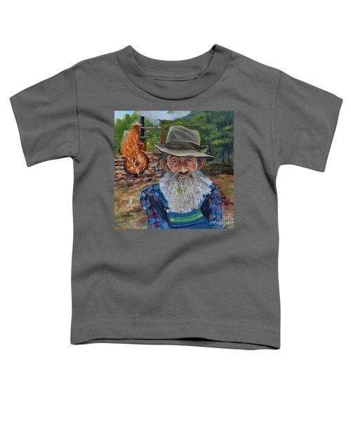 Popcorn Sutton - Rocket Fuel -white Whiskey Toddler T-Shirt