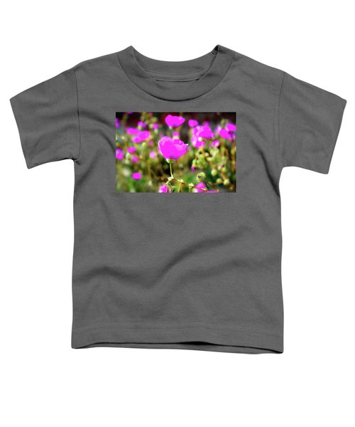 Toddler T-Shirt featuring the photograph Poppies by Alison Frank