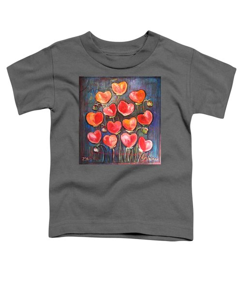 Poppies Are Hearts Of Love We Can Give Away Toddler T-Shirt