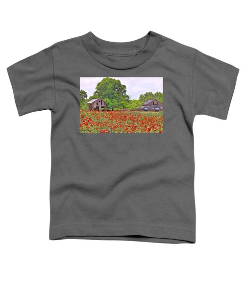 Poppies On The Farm Toddler T-Shirt