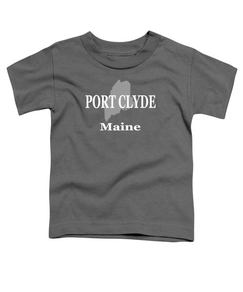 Port Clyde Maine State City And Town Pride  Toddler T-Shirt