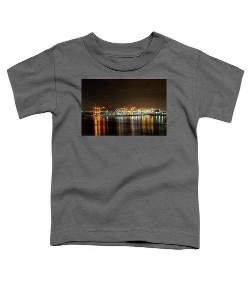 Port Of Vancouver Bc At Night Toddler T-Shirt