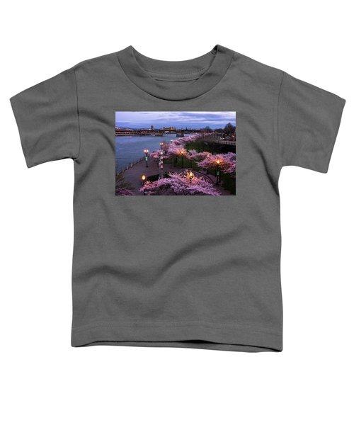 Portland Cherry Blossoms Toddler T-Shirt