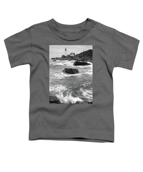 Portland Head Light Under Heavy Skies  -88356 Toddler T-Shirt