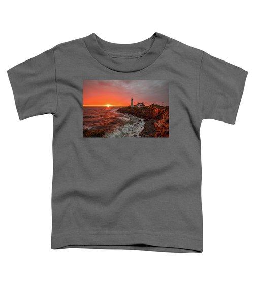 Portland Head Sunrise Toddler T-Shirt