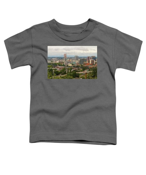 Portland Oregon Downtown Cityscape By Freeway Toddler T-Shirt