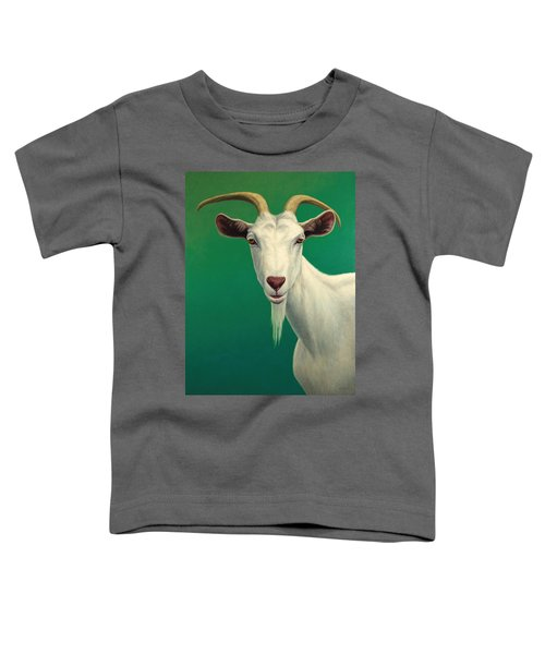 Portrait Of A Goat Toddler T-Shirt by James W Johnson