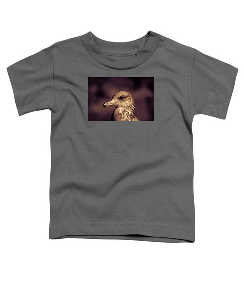 Toddler T-Shirt featuring the photograph Portrait Of A Gull by Lora Lee Chapman