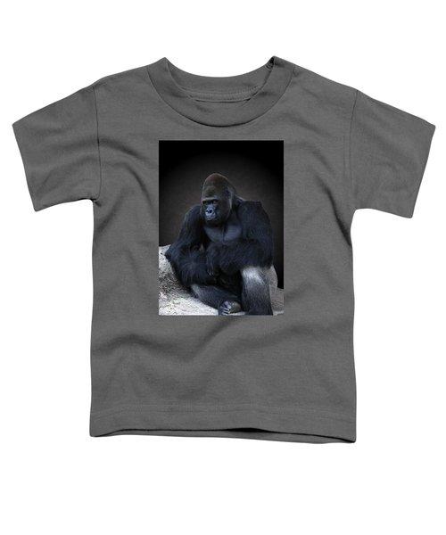 Portrait Of A Male Gorilla Toddler T-Shirt
