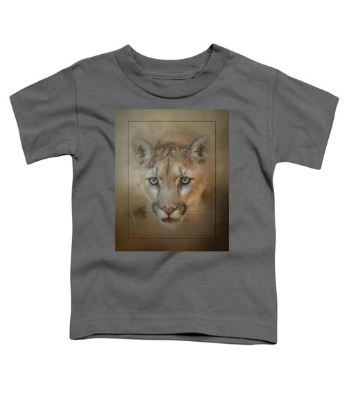 Portrait Of A Mountain Lion Toddler T-Shirt