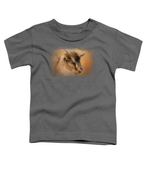 Portrait Of A Nubian Dwarf Goat Toddler T-Shirt by Jai Johnson