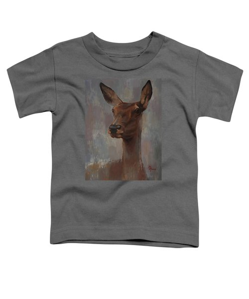 Portrait Of A Young Doe Toddler T-Shirt