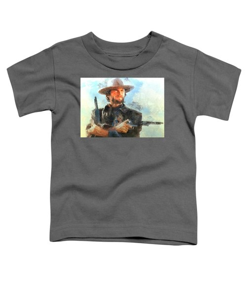 Portrait Of Clint Eastwood Toddler T-Shirt