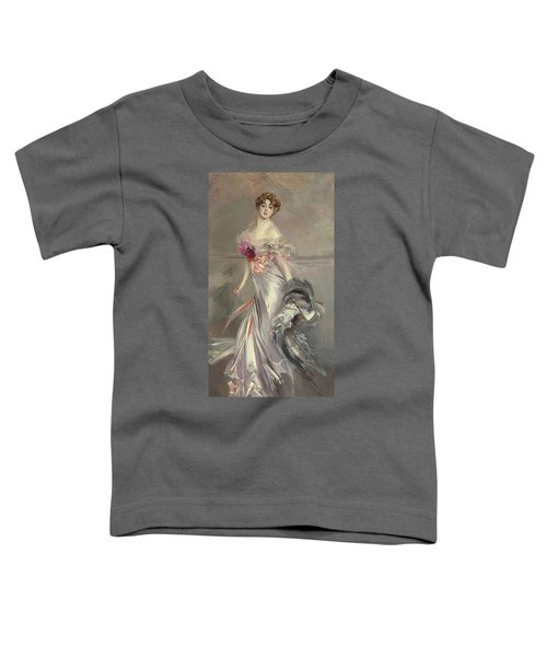 Portrait Of Marthe Regnier Toddler T-Shirt by Giovanni Boldini