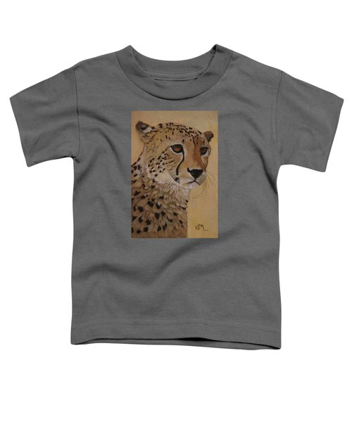 Portrait Of Murphy - Male Cheetah Toddler T-Shirt
