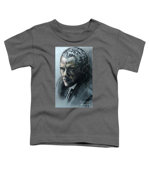 Charcoal Portrait Of President Obama Toddler T-Shirt