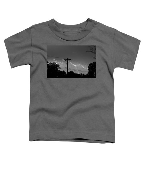 Power Lines Bw Fine Art Photo Print Toddler T-Shirt