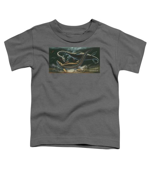 Prehistoric Marine Animals, Underwater View Toddler T-Shirt