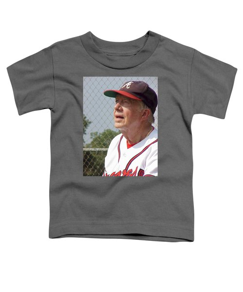President Jimmy Carter - Atlanta Braves Jersey And Cap Toddler T-Shirt