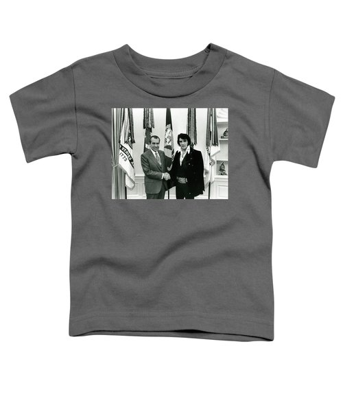 President Nixon And Elvis Presley In Oval Office Toddler T-Shirt